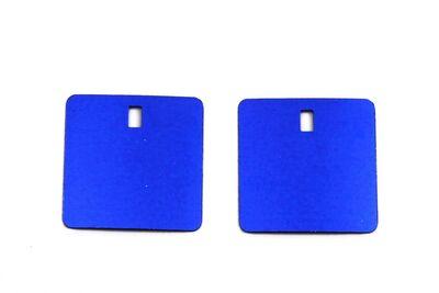 ERTÜRK - 27.5x27.5 mm KARE MODEL PLASTİK PUL PAYET, PANO PULU, 2.6x4.3 mm DİKDÖRTGEN DELİK, MAVİ RENK