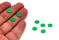 8 mm PLASTİK PUL PAYET, NAKIŞ PULU, DÖKME PUL, ORTADAN DELİK, KOYU YEŞİL RENK - Thumbnail